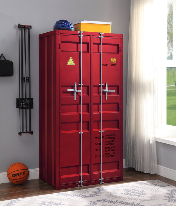 Cargo Red Wardrobe (Double Door)