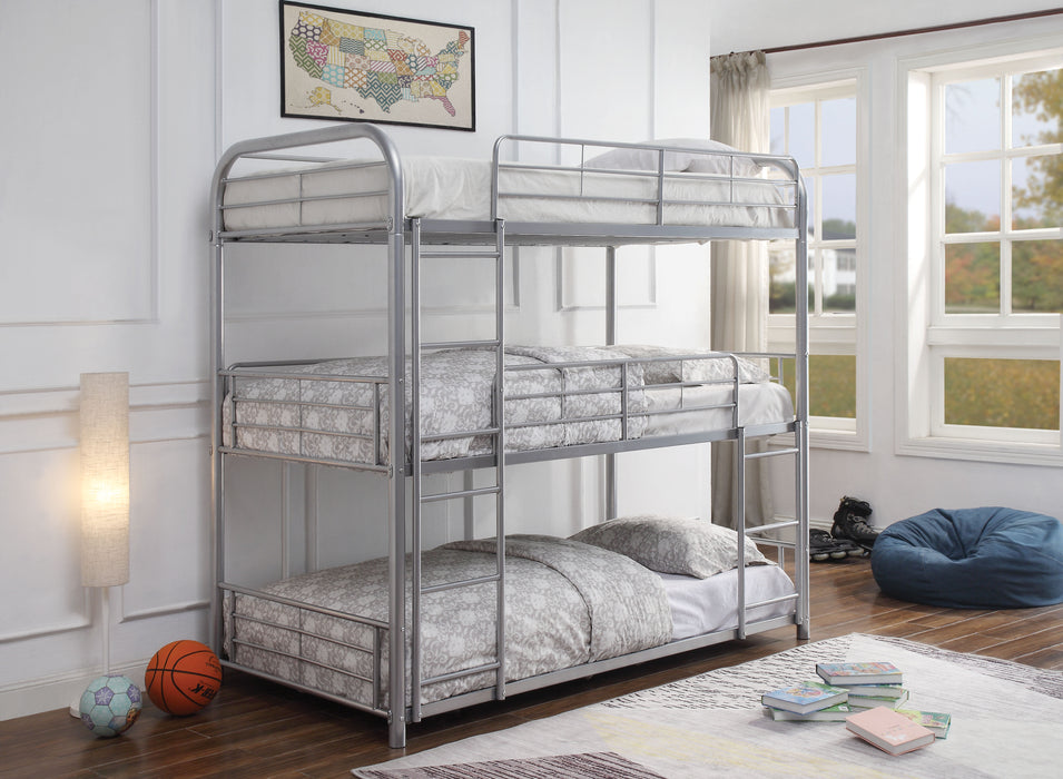 Cairo Silver Bunk Bed (Triple Twin)