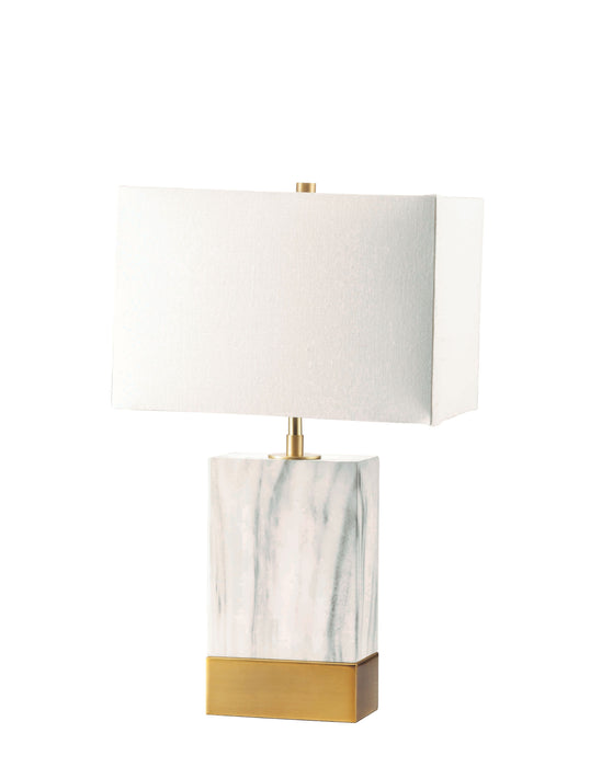 Libe White & Satin Gold Table Lamp