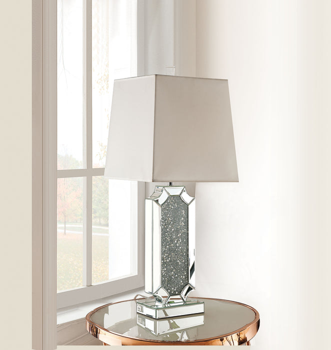 Noralie Mirrored & Faux Diamonds Table Lamp