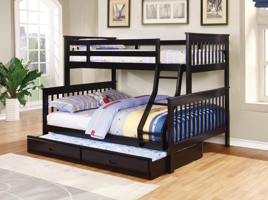 Chapman Transitional Black Twin-over-Full Bunk Bed image