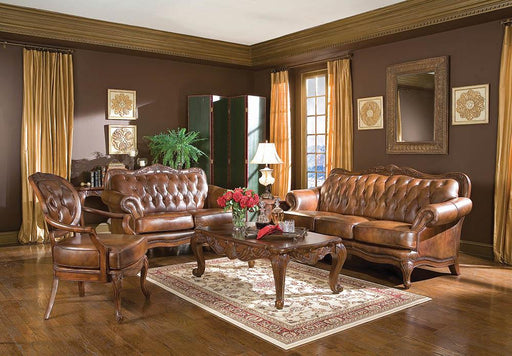 Victoria Traditional Tri-Tone Loveseat image