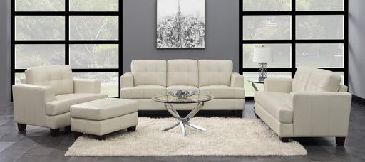 Samuel Transitional White Three-Piece Living Room Set image
