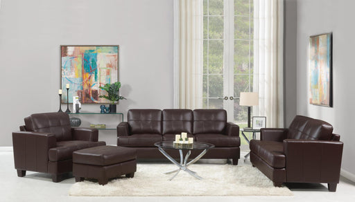 Samuel Transitional Brown Three-Piece Living Room Set image