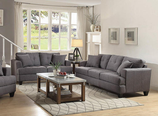 Samuel Charcoal Two-Piece Living Room Set image