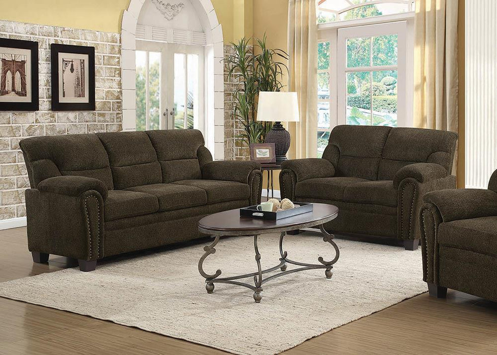 Clemintine Brown Two-Piece Living Room Set image