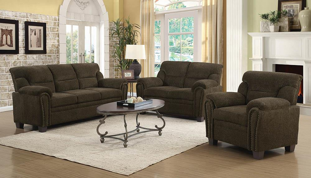 Clementine Casual Brown Loveseat image