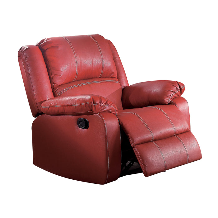 Zuriel Red PU Rocker Recliner (Motion)