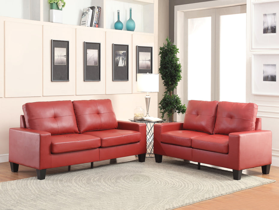 Platinum II Red PU Sofa & Loveseat
