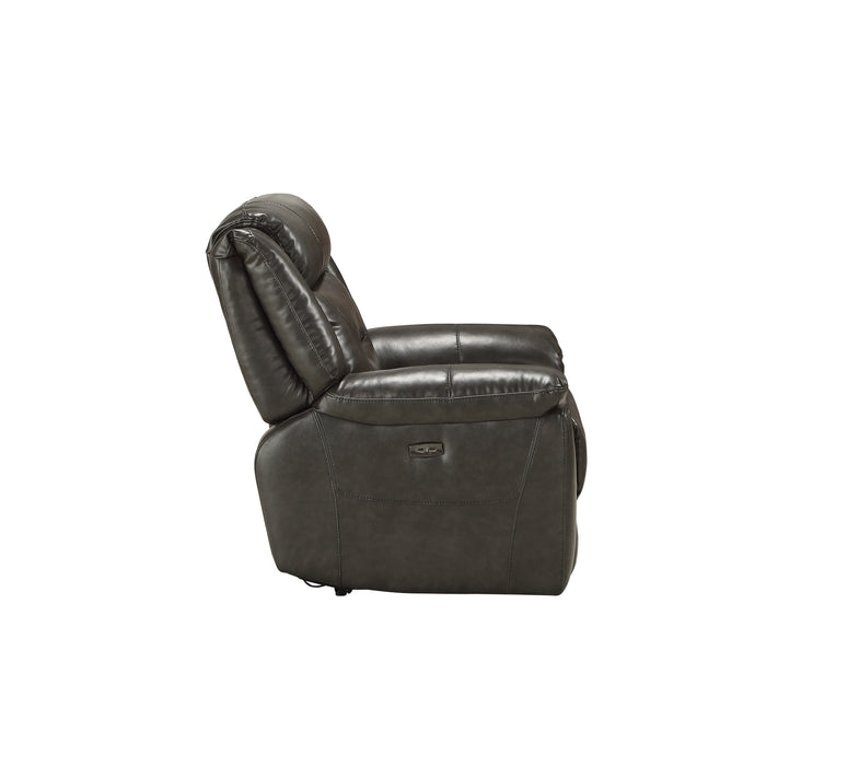 Imogen Gray Leather-Aire Recliner (Power Motion)