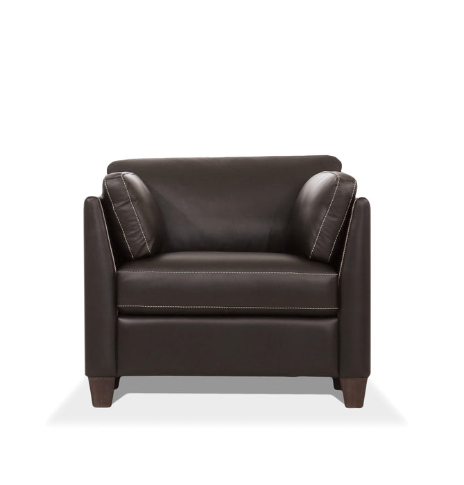 Matias Chocolate Leather Chair
