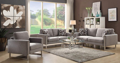 Stellan Contemporary Grey Three-Piece Living Room Set image