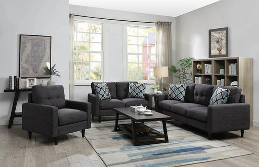 Watsonville Retro Grey Loveseat image
