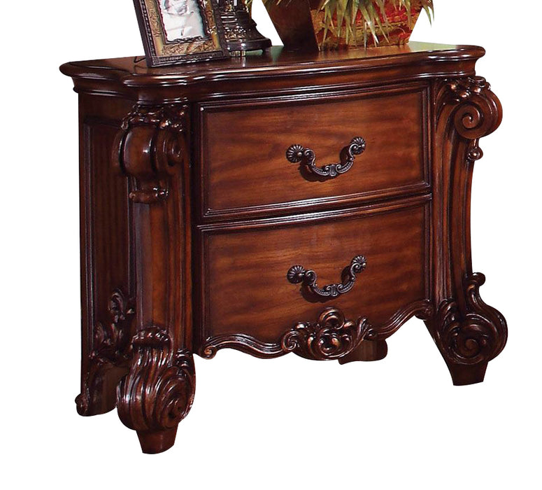 Acme Vendome Traditional Two Drawer Nightstand in Cherry 22003 CLOSEOUT image