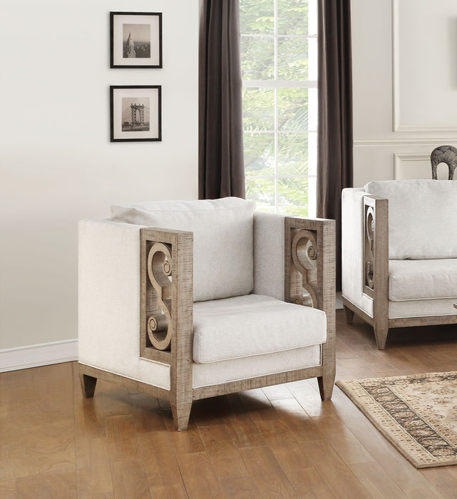 Artesia Fabric & Salvaged Natural Chair