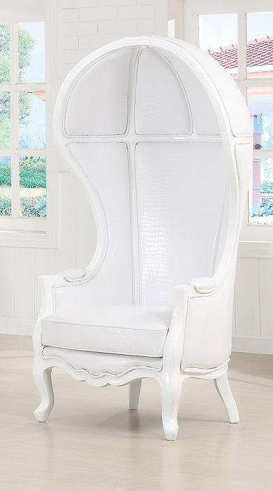 Jana White PU Accent Chair