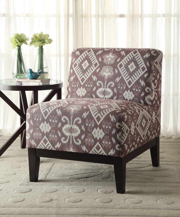 Hinte Pattern Fabric Accent Chair