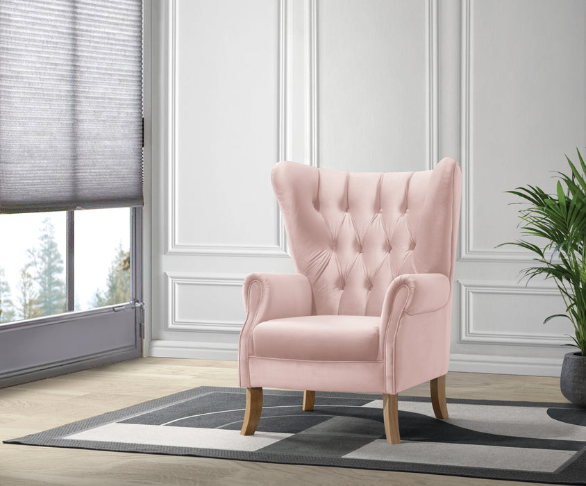 Adonis Blush Pink Velvet Accent Chair