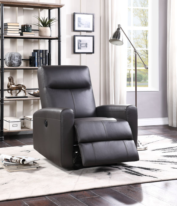 Blane Brown Top Grain Leather Match Recliner (Power Motion)