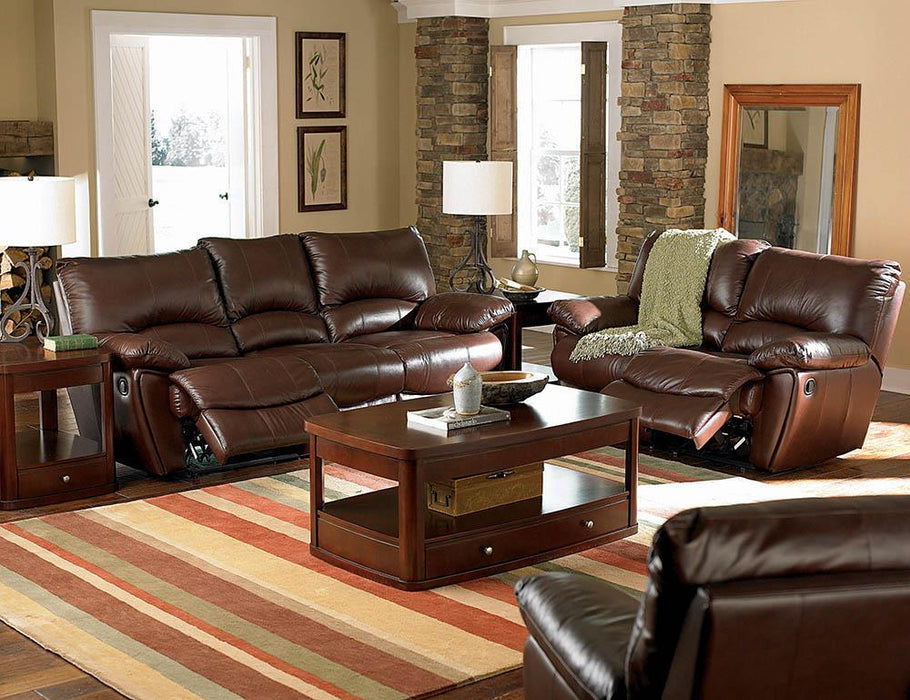 Clifford Motion Dark Brown Reclining Three-Piece Living Room Set image