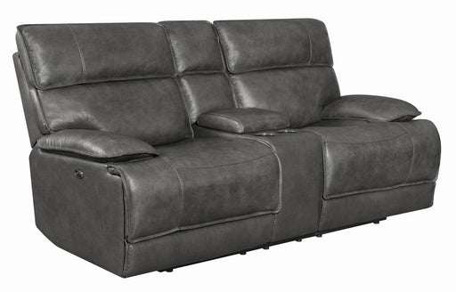 Standford Casual Charcoal Power Loveseat image