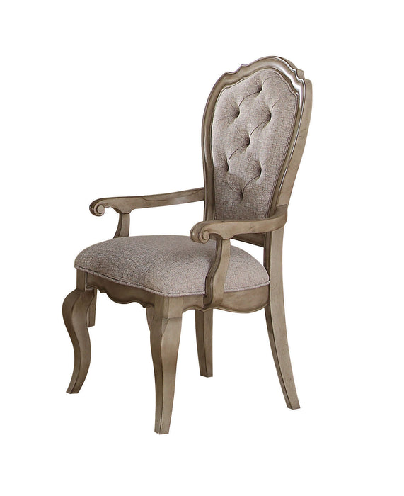Chelmsford Beige Fabric & Antique Taupe Arm Chair