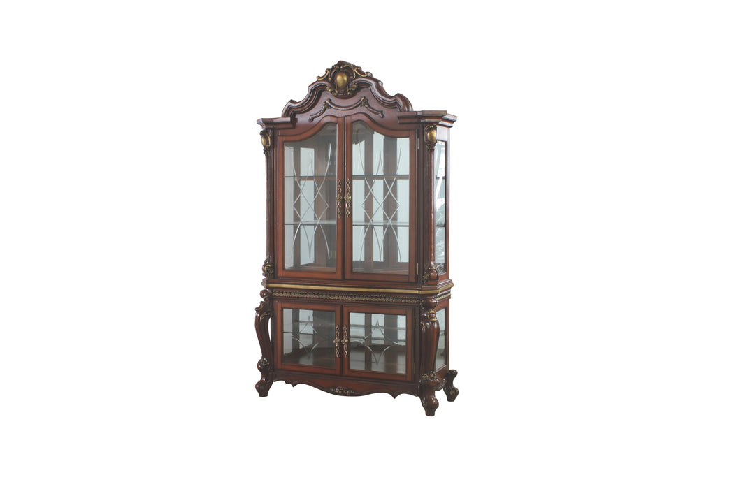 Picardy Cherry Oak Curio Cabinet