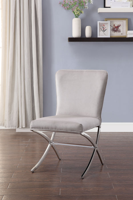 Daire Velvet & Chrome Side Chair