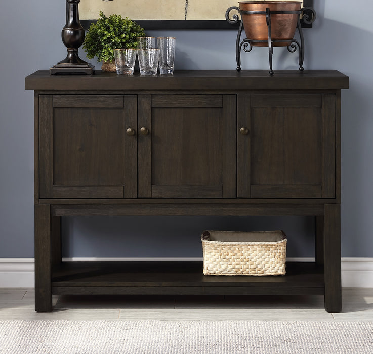 Haddie Distressed Walnut Server