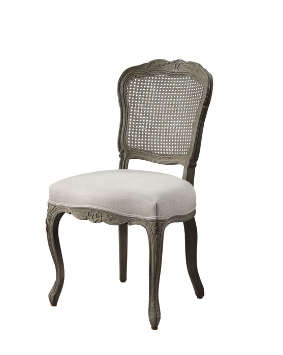 Ruby Linen & Rustic Gray Oak Side Chair