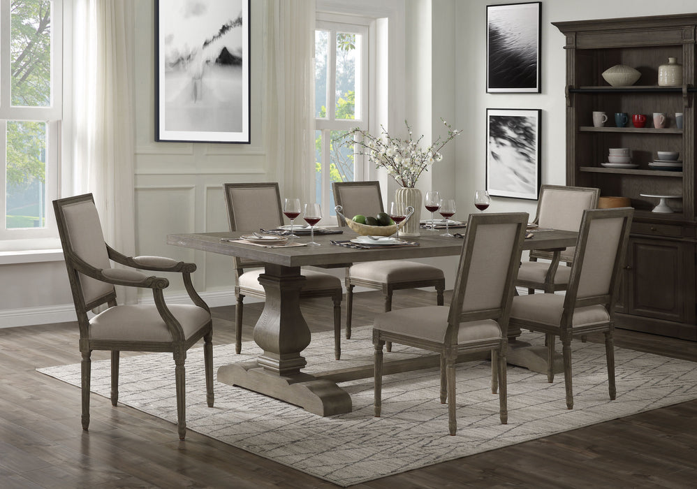 Ruby Rustic Gray Oak Dining Table