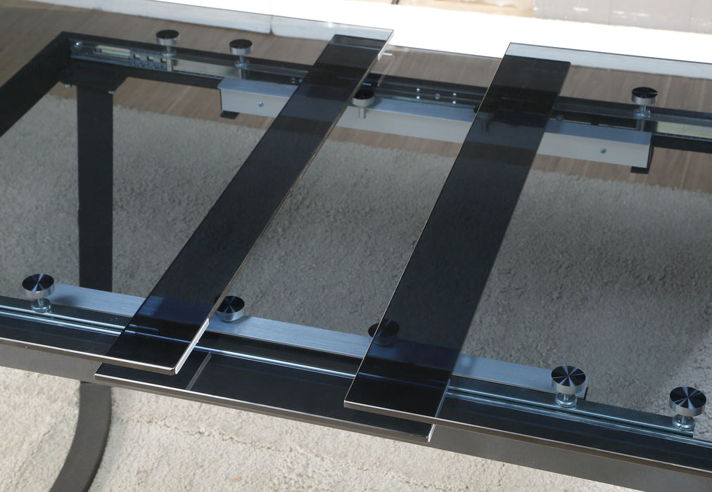 Osias Black & Smoky Glass Dining Table