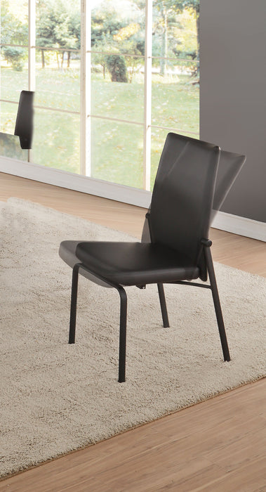 Osias Black PU & Black Side Chair