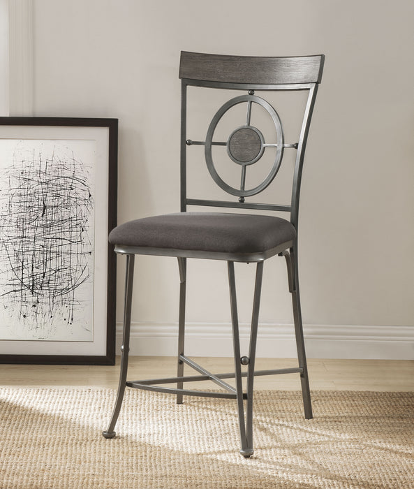 Landis Fabric & Gunmetal Counter Height Chair