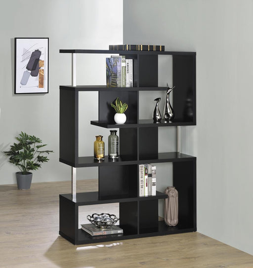 Transitional Black Bookcase image