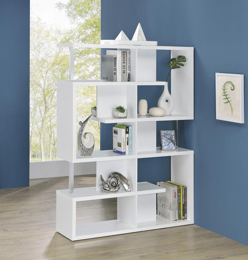 Transitional White Bookcase image