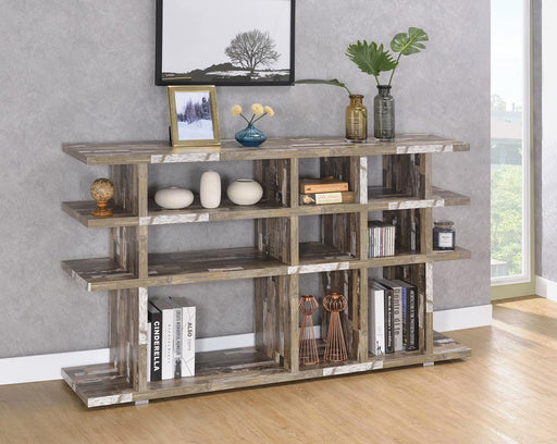 Rustic Salvaged Cabin Low-Profile Bookcase image
