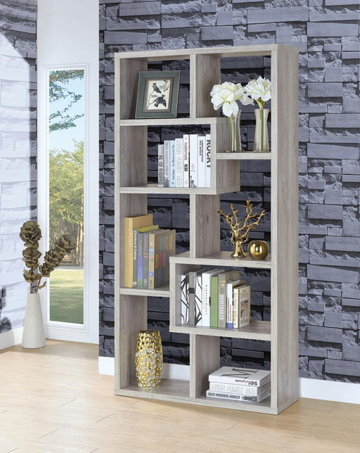 Transitional Grey Driftwood Bookcase image
