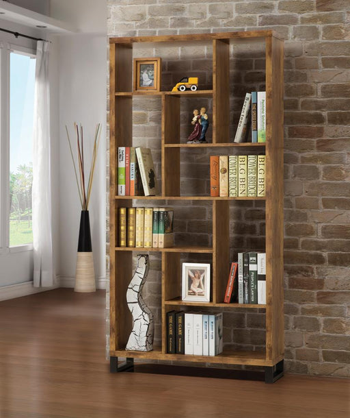 Rustic Antique Nutmeg Bookcase image