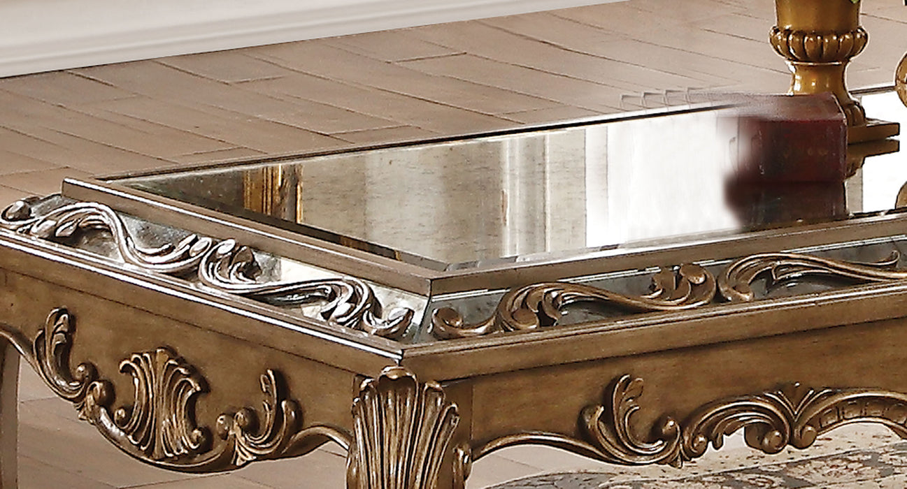 Orianne Mirrored & Antique Gold Coffee Table