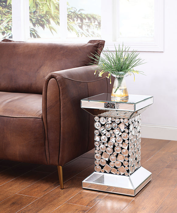 Kachina Mirrored & Faux Gems End Table