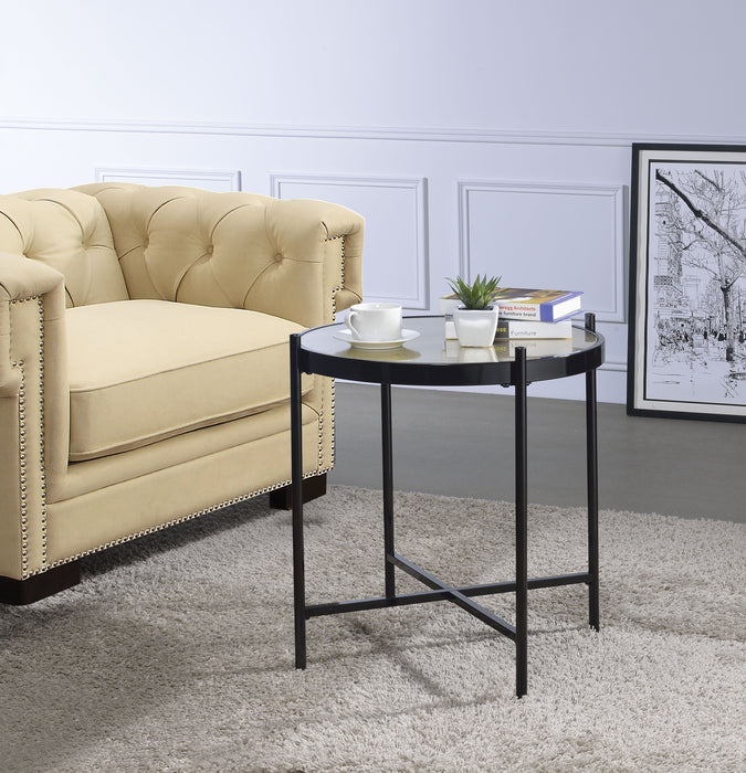 Bage II Black & Glass End Table