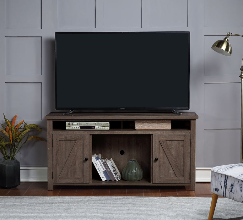 Cordell Oak TV Stand (Optional Fireplace)