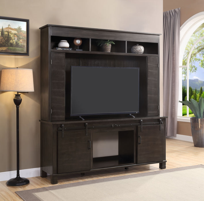 Apison Espresso Entertainment Center w/Fireplace