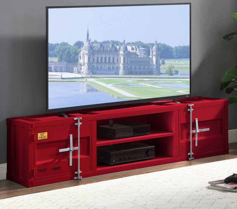 Cargo Red TV Stand