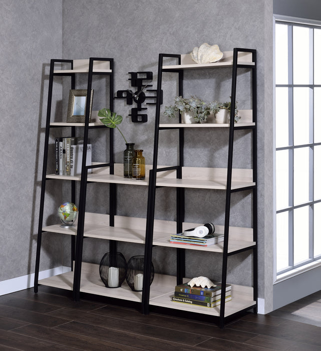 "Wendral Natural & Black Bookshelf (5-Tier, 23""L)"
