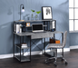 Amiel Faux Concrete & Black Desk image