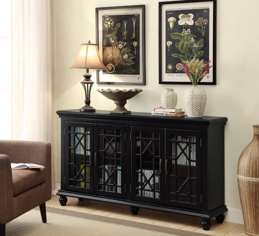 Traditional Black Accent Cabinet image