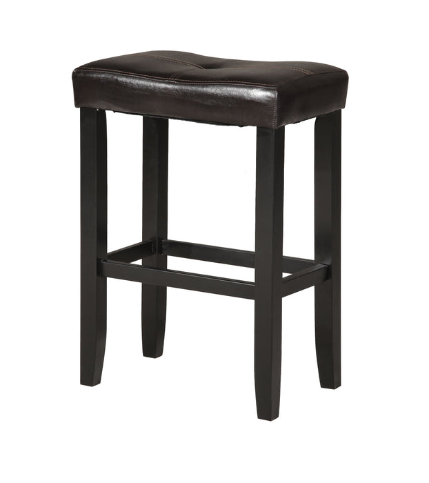 Micha Espresso PU & Black Counter Height Stool