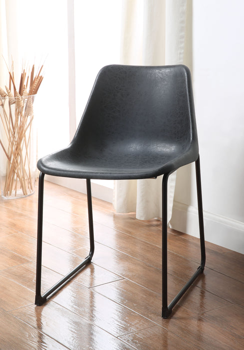 Valgus Vintage Black & Black Side Chair
